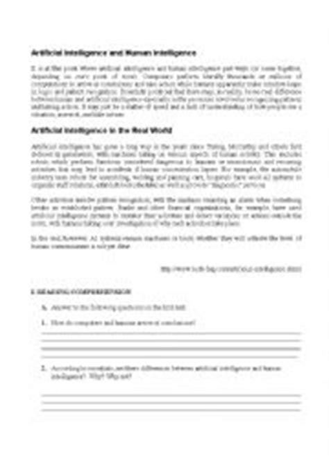 English worksheets: Artificial Intelligence