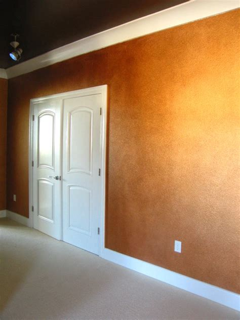 copper decorative painted wall treatment contemporary