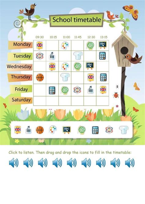 25 best ideas about school timetable on