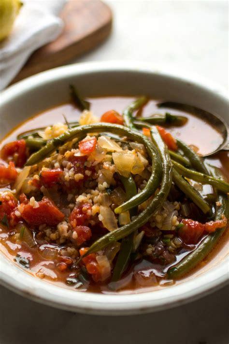 stewed green beans  tomatoes  trahana recipe nyt