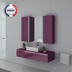 Meuble Simple Vasque : ensemble meuble salle de bain meuble salle de bain aubergine dis9650au ~ Teatrodelosmanantiales.com Idées de Décoration