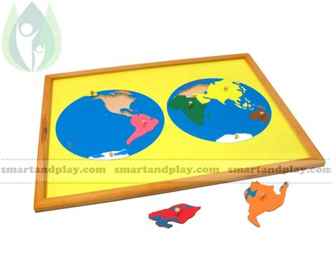 Puzle KONTINENTI , Montessori mācību materiāls, Cena: 33.9 € - Preces kods: SPG074 - Vairāk ...