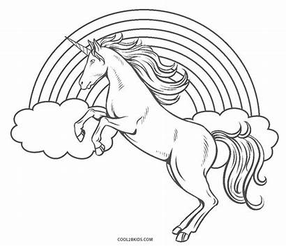 Rainbow Coloring Pages Unicorn Printable