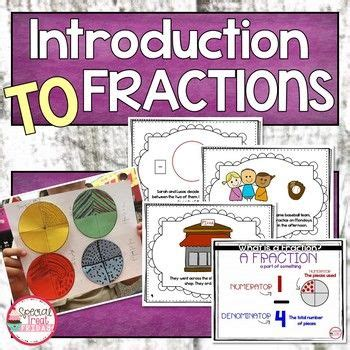 Introduction to Fractions Mini Unit in 2020 | Introduction ...