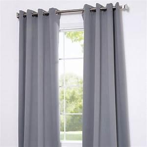 Rideau Epais Pas Cher : rideau isolant gris clair rideau occultant pas cher ~ Premium-room.com Idées de Décoration