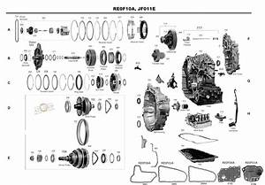Transmission Repair Manuals Cvt Jf011e  Re0f10a   Re0f06a