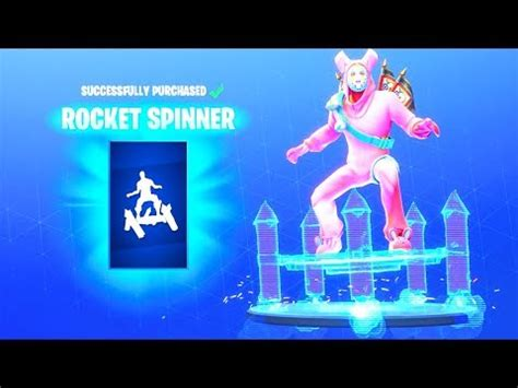 rocket spinner emote fortnite battle royale youtube