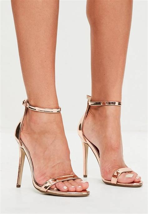 rose gold  strap barely  heels missguided