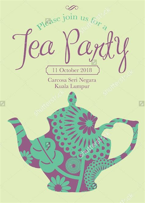 tea party invitation designs word psd ai design