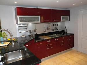 salle de bain gris turquoise 7 cuisine rouge et noir With idee deco cuisine avec cuisine rouge et noir