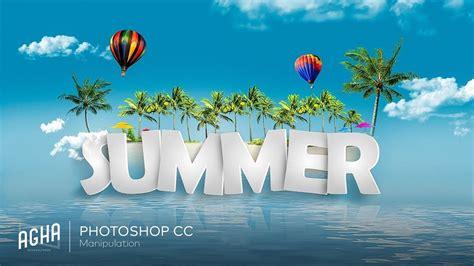 adobe photoshop tutorial summer background   text
