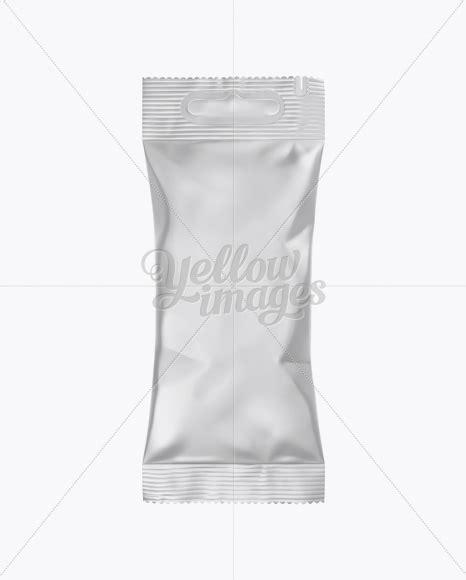 Kraft snack tube mockup 38167. Matte Snack Package Mockup in Flow-Pack Mockups on Yellow ...