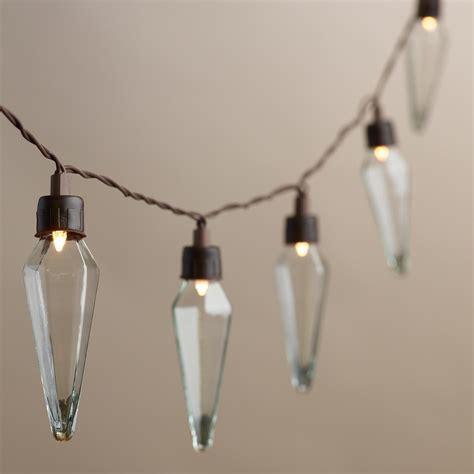 solar bulb string lights clear prism solar led 20 bulb string lights world market