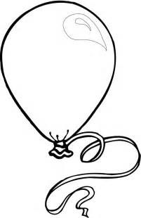 Birthday Balloon Coloring Pages for Kids