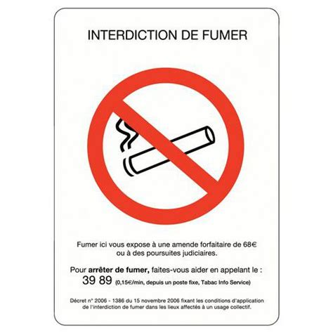 boite rangement bureau pictogramme interdiction de fumer