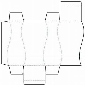die cutting image of curvilinear box templates no03 With curved box template
