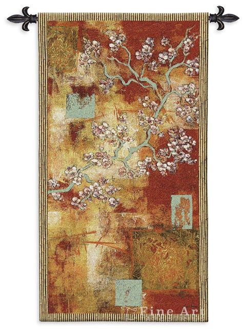 damask blossom modern tapestry wall hanging ornamental design with flowers h53 quot x w30 quot