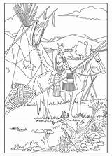 Native Coloring American Horse Americans Celine Adults Pages Adult Indians sketch template