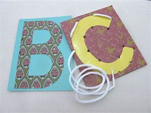 alphabet photo lacing cards lacing cards pinterest With letter lacing cards