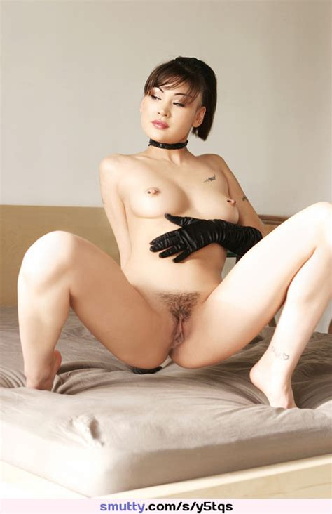 Sexy Squat Spread Trim Pussy Asian Tats Cute Dtf Naked Nude