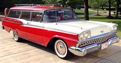 ford usa 1959 country sedan 4door station wagon the 1959 ford country sedan a video walk around oldcars site