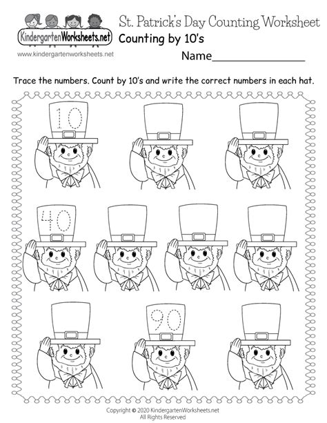 st patricks day counting worksheet skip counting
