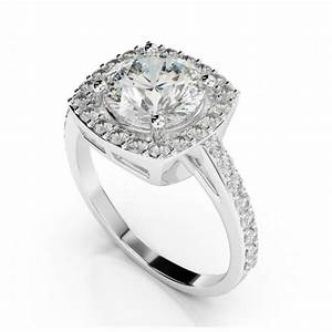 1 carat forever one moissanite cushion diamond halo With the forever diamond wedding ring