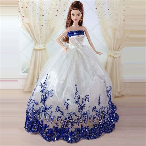 doll wedding dresses handmade princess wedding dress clothes gown for