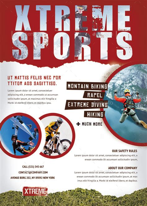 extreme sports flyers magazine ad  ingridk graphicriver