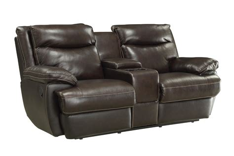 Coaster Loveseat by Coaster Macpherson 601812 Casual Leather Match Reclining