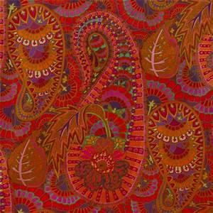 Paisley Muster Stoff : roter blumen paisley laminat stoff westminster fibers ~ Watch28wear.com Haus und Dekorationen