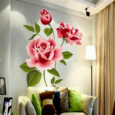 home decor stickers flower wall stickers removable decal home decor diy