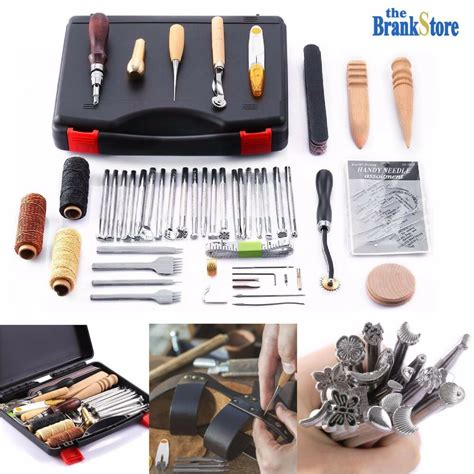 leather craft tools hand stitching sewing stamping set