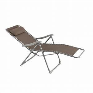 Fauteuil Bain De Soleil : fauteuil d tente silos taupe bain de soleil eminza ~ Teatrodelosmanantiales.com Idées de Décoration