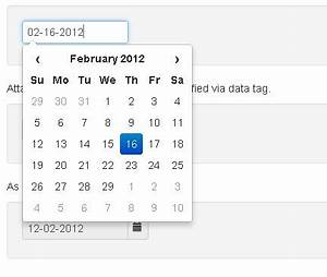 Simple JQuery Date Picker For Bootstrap Free JQuery Plugins