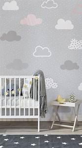 Graue Tapete Mit Muster : rosa und graue wolken muster bemalte tapete tapeten wandbilder pinterest kinderzimmer ~ Orissabook.com Haus und Dekorationen