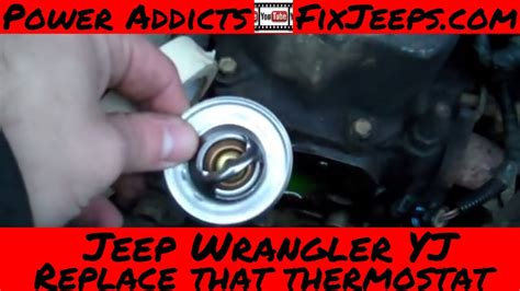 jeep wrangler yj   change  thermostat   jeep
