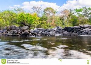Rock River Rapids In National Park Stock Photo ...