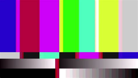 hd motion  tv color bars malfunction  tv noise