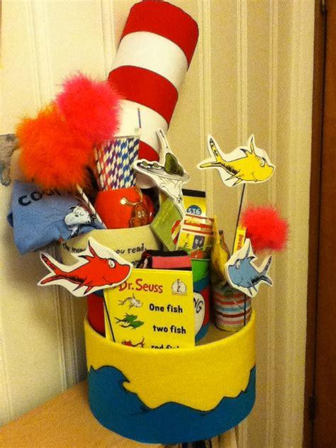 dr seuss gift basket felt decorated hat boxes