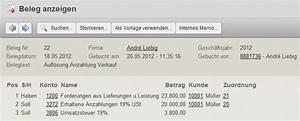 Rechnung Mit Anzahlung : buchen von erhaltenen anzahlungen mit der online buchhaltungssoftware collmex ~ Themetempest.com Abrechnung