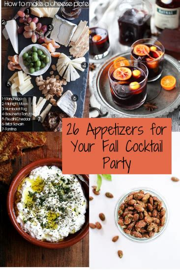 26 Recipes For A Fabulous Fall Cocktail Party Caroline