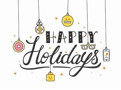 Holidays Happy Holiday Emoji Animation Dribbble Gift