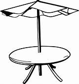 Umbrella Table Clipart Coloring Rain Clip Drawing Boots Beach Chair Pool Cliparts Draw Hat Colouring Vector Adirondack Clipartpanda Sheet Library sketch template