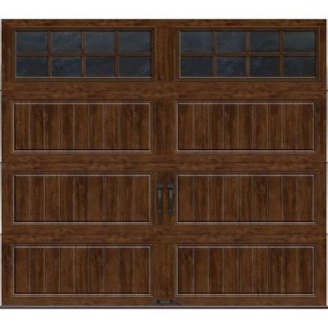 clopay garage doors home depot clopay gallery collection 8 ft x 7 ft 6 5 r value