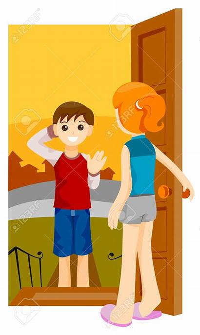 Visit Clipart Visiting Boy Friend Clipground Vector