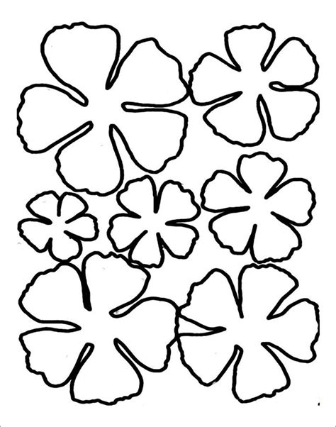 printable flower template cut out flower template free templates free premium templates