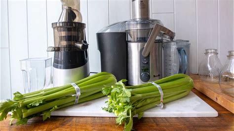 juicer celery juice masticating vs centrifugal slow