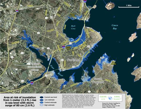 risks  rising seas pondered  portland maine jlc