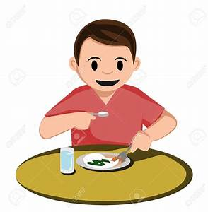 Boy Eating Breakfast Clipart – 101 Clip Art